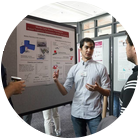 ICME Students Discuss Research Poster
